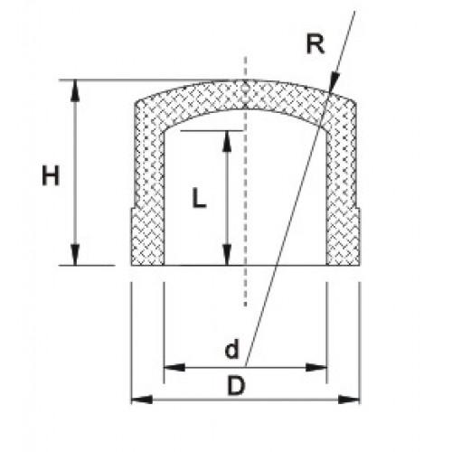 Заглушка ХПВХ d25мм PN25