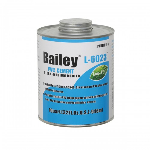 Клей для ПВХ Bailey 946 ml (диаметром более DN200)