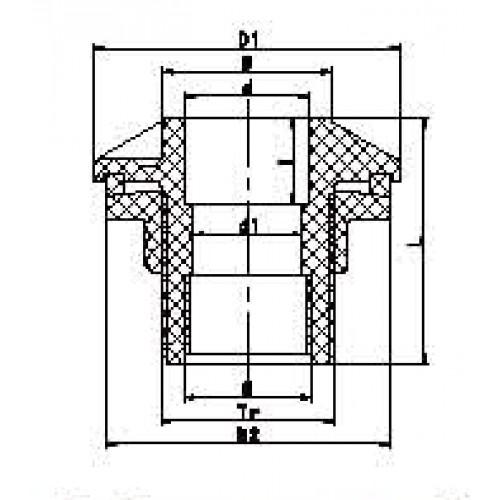 Адаптор для соединения с цистерной, переход на ёмкость d40x1 1/4